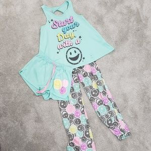 Girls 3 Pieces Pajama Set